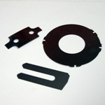 Mild Steel Shims - Slotted, Custom OD profile, Bolt Holes
